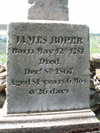 Inscription on James Roper Monument